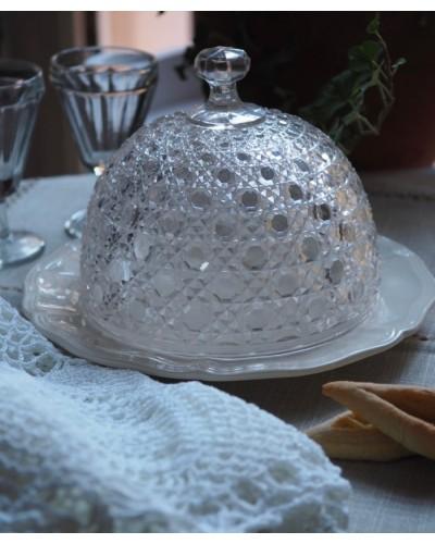 ガラス製ケーキドーム 小型