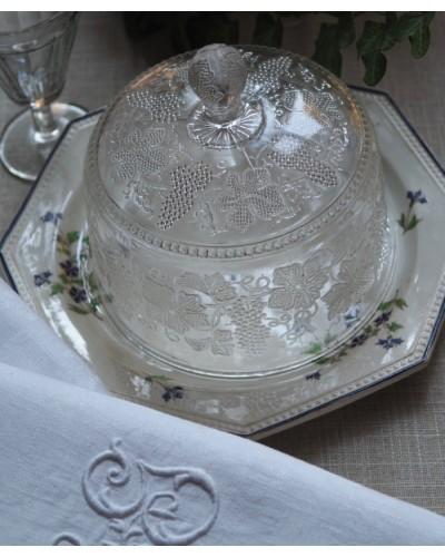 ガラス製ケーキドーム 小型 ブドウモチーフ