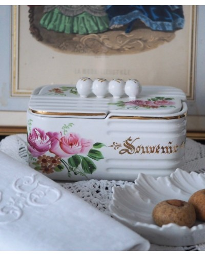 サンタマン 陶製ビスケット箱