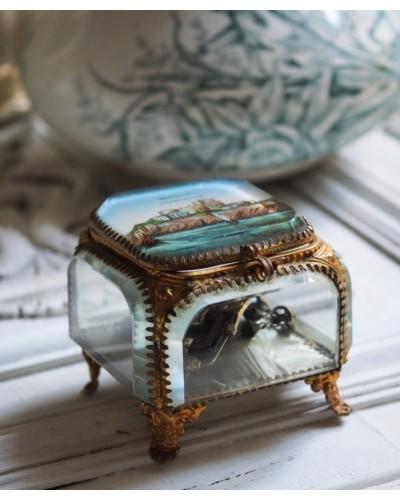 ガラス&真鍮のジュエリーボックス