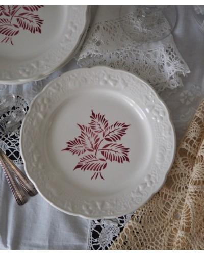 2枚組  葉っぱ柄のデザートプレート   ディゴワン・サルグミンヌ