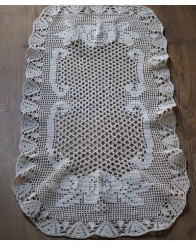 手編みクロシェレース 長方形