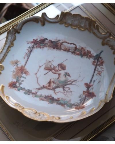 リモージュ  エンジェルのロマンティックな絵皿
