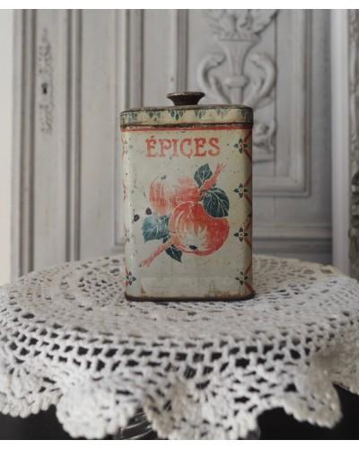 パリのコンフィチュール屋さんのティン缶 1900年