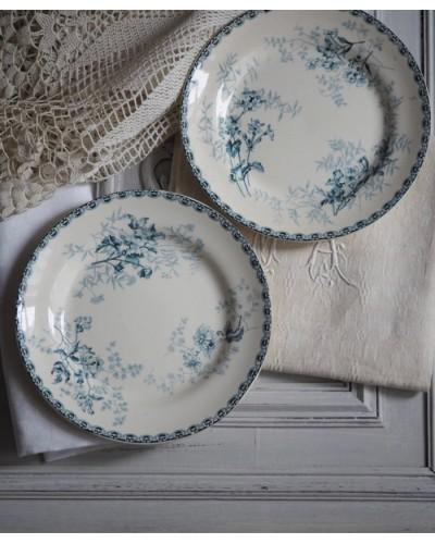 ショワジー・ル・ロワのプレート2枚組ブルー