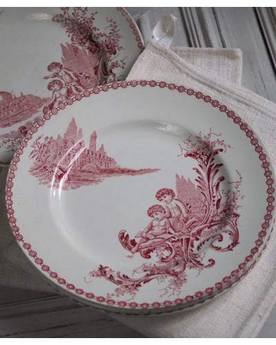 2枚組み  サンタマンの平皿「トリアノン」シリーズ