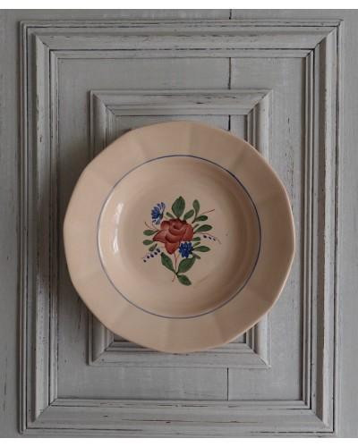 バラ柄クルーズ皿  ディゴワン・サルグミンヌ