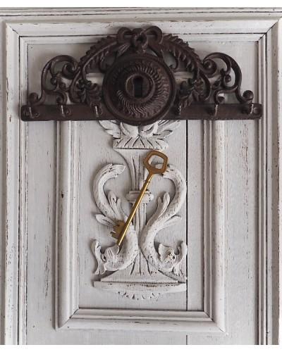 Plaque en fonte porte clefs