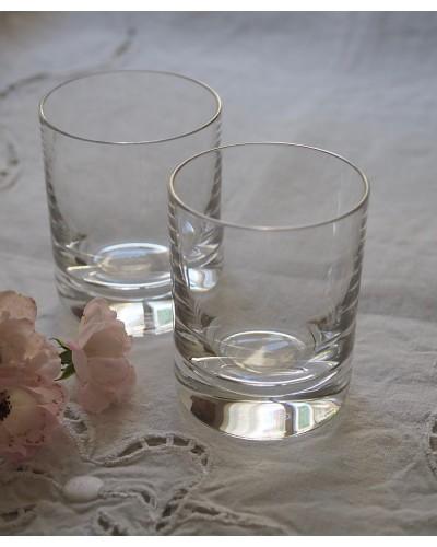 Lot 2 Verre liqueur  cristal. Bacarat sans pied