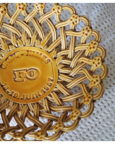 Corbeille Tressée en Céramique - Pichon - UZES