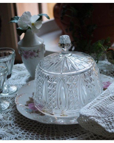 エレガントなガラス製ケーキドーム