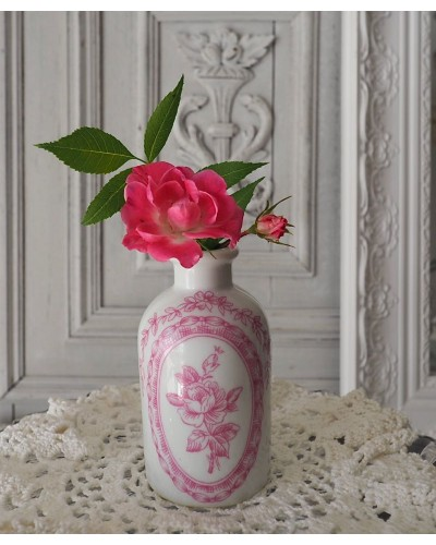 ポーセレンドパリのバラ柄フラコン