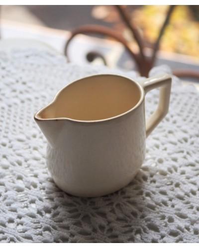 Pichet à lait Sarreguemines ivoire