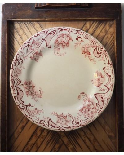 Assiette dessert  1896 TERRE DE FER, SFGBNGR, Neuilly galerie Lafayette
