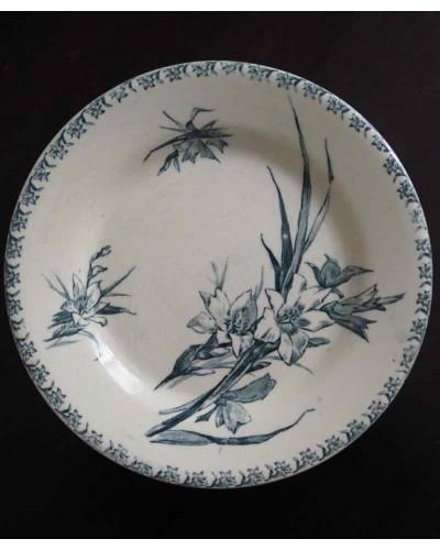 ジアンの平皿「Glaïeul」