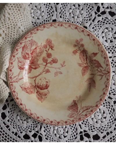 ジアンの平皿「mûres」(ブラックベリー)