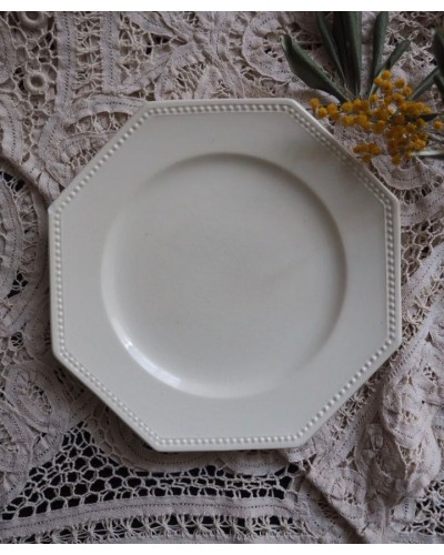 オクトゴナル&パールのデザート皿 サルグミンヌ