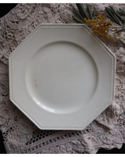 オクトゴナル&パールの平皿 サルグミンヌ