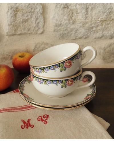 朝食用の大きなカップ&ソーサー ディゴワン・サルグミンヌ  Lola