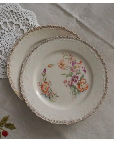 2枚組  クレイユ・エ・モントローのデザート皿