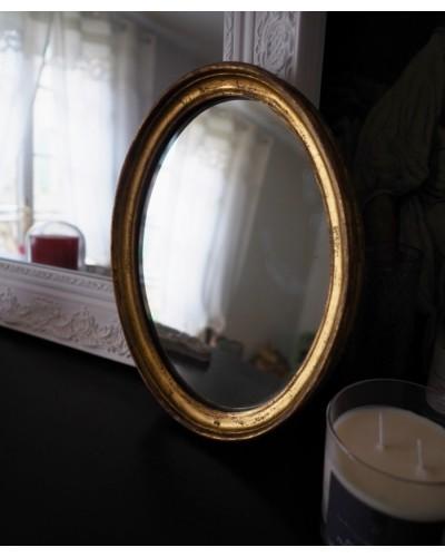 木製フレームゴールドのミロワ