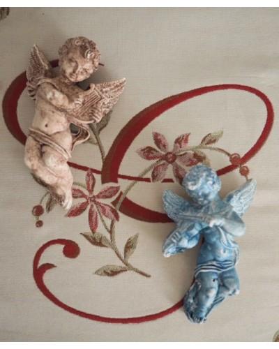 楽器を奏でる天使像(壁飾り)
