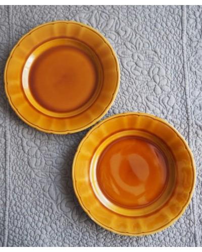 2枚組  キャラメル色の平皿