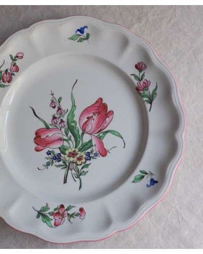 """リュネヴィルの平皿 """"Réverbère""""  1889-"""