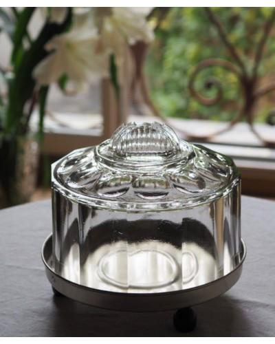 アール・デコなガラス製ケーキドーム