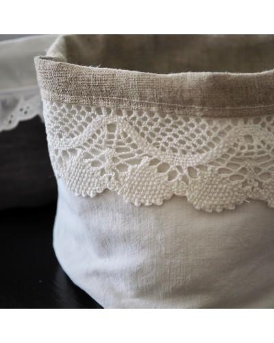 布製かご 白