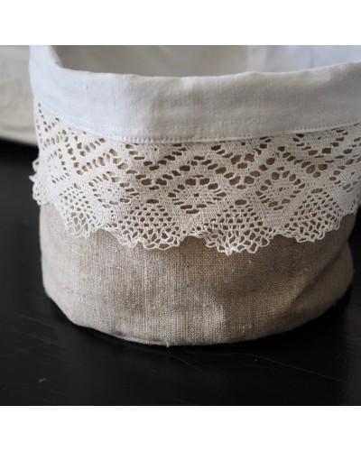 リメイク布製かご ナチュラル