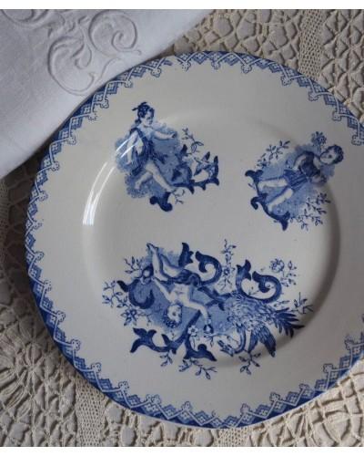 天使のデザート皿「アムール」オナン窯 19世紀