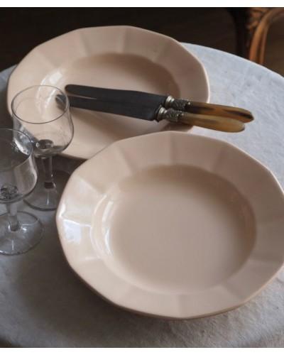 2枚組・ローズパールのクルーズ皿  ディゴワン・サルグミンヌ