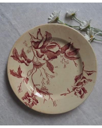 平皿「クリスマスローズ」リヨン窯